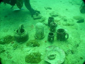 Relics on a wreck