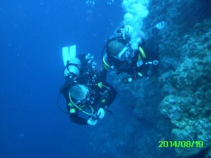 Divers on Wall